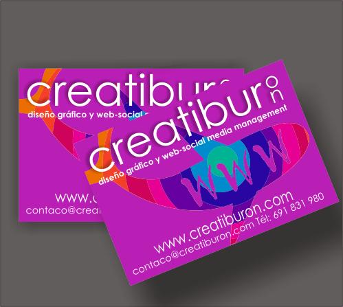 Tarjetas de visita para creatiburon