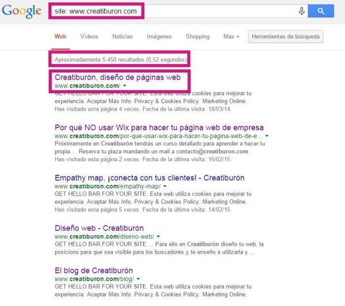 indexacion de tu web