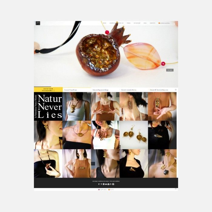 Diseño de tienda online de joyería: Natur Never lies