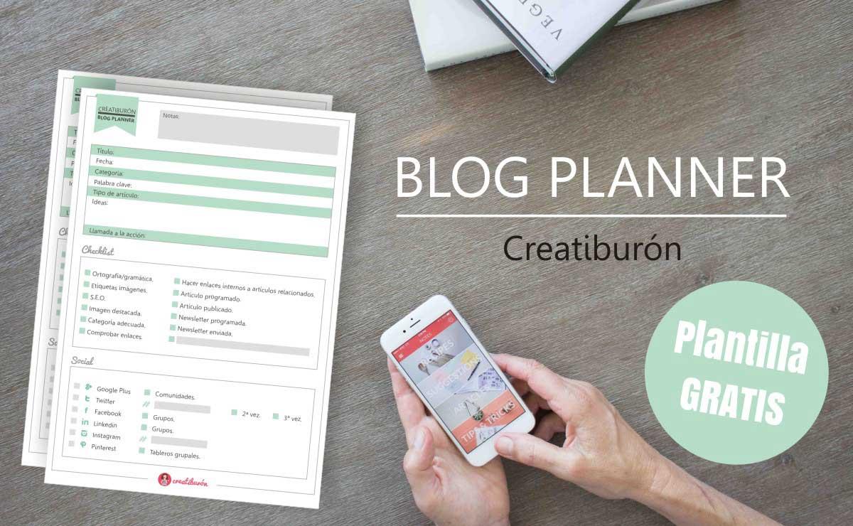 Descárgate gratis un Blog planner profesional