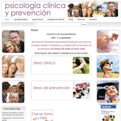 Página web de Psicología clínica y prevención