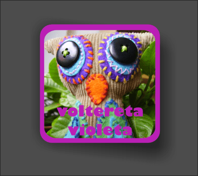 Logotipo Voltereta violeta