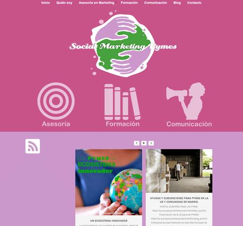Diseñando la nueva página web de Social Marketing Pymes