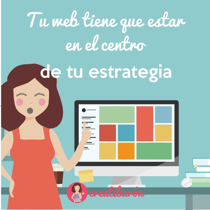 Tu página debe ser el centro de tu estrategia
