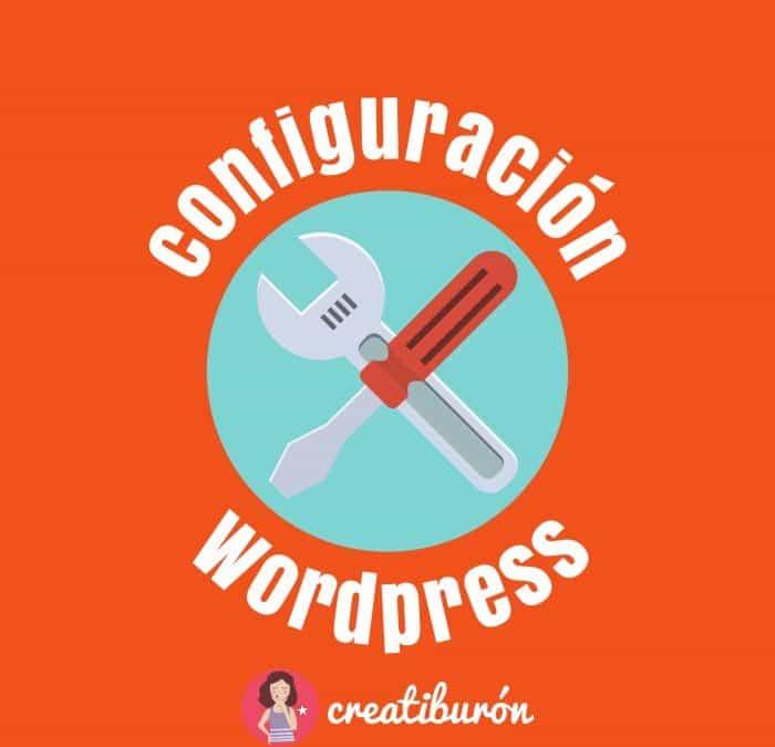 Configuración de WordPress, elementos principales