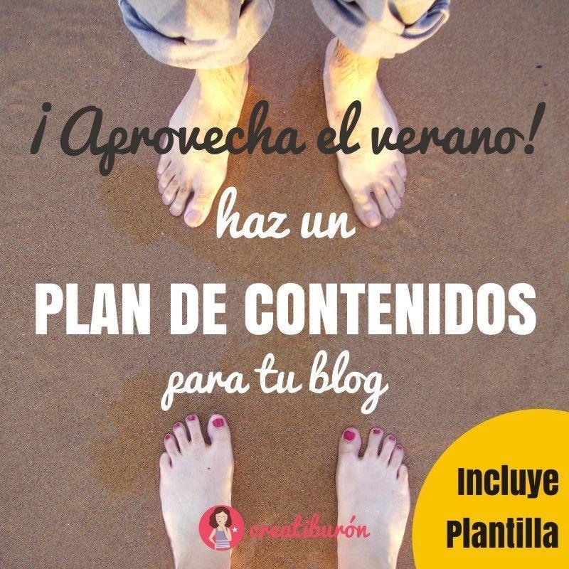 Aprovecha el verano para hacer un plan de contenidos para tu blog
