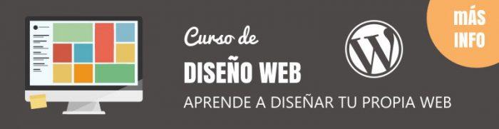 curso de diseño web con WordPress