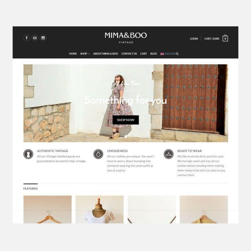diseño tienda de ropa vintage