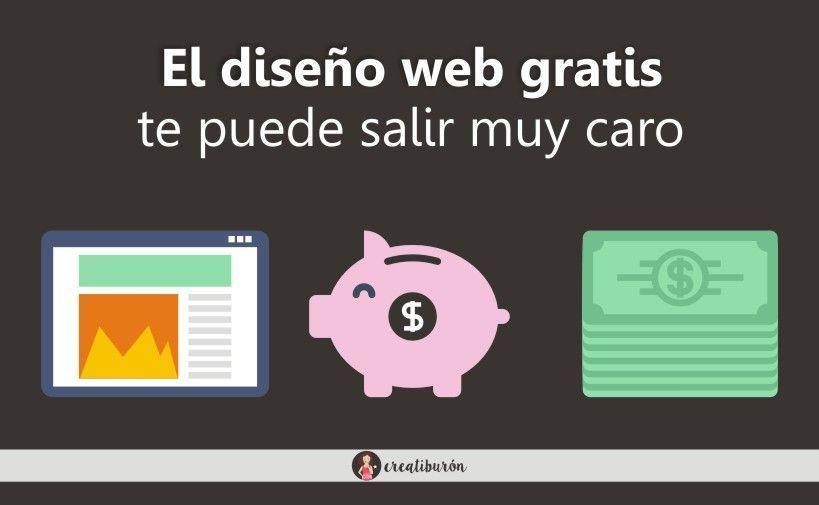El diseño web gratis te puede salir muy caro
