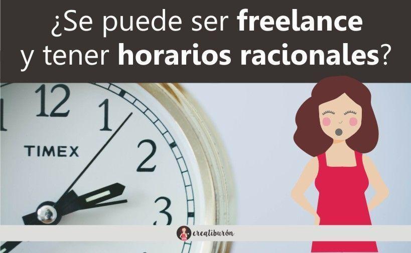 ¿Es incompatible ser freelance con tener horarios racionales?