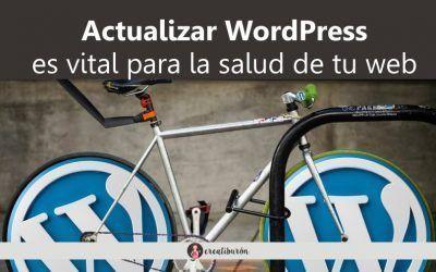 Actualizar WordPress y actualizar plugins es vital para mantener tu web