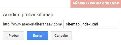 enviar sitemap