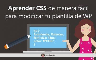 Aprender CSS de manera fácil para modificar el aspecto de tu plantilla de WordPress