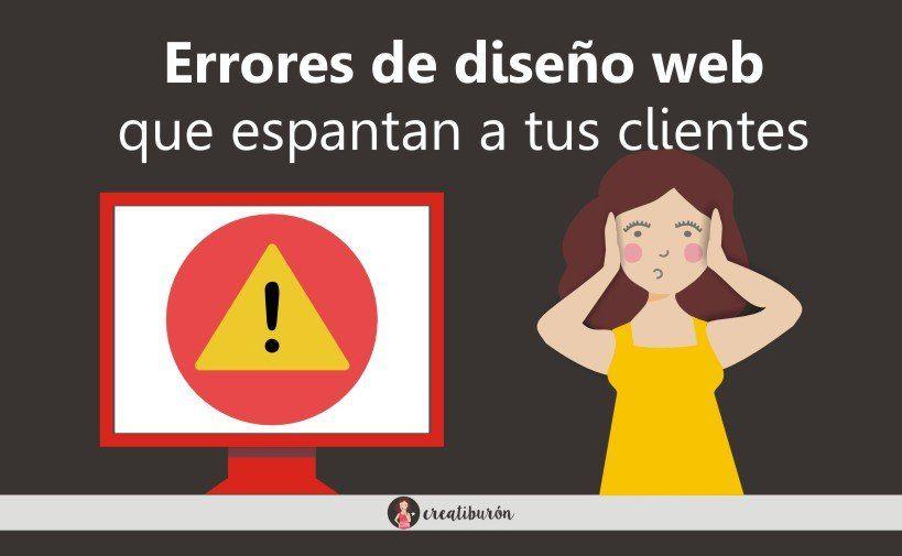 errores en páginas web