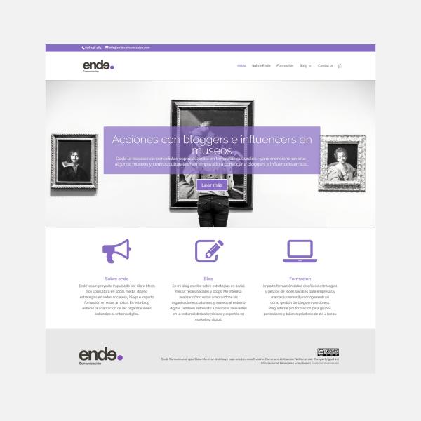 Diseño web: Ende Comunicación